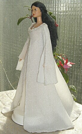 ooak Arwen angel dress for Barbie doll