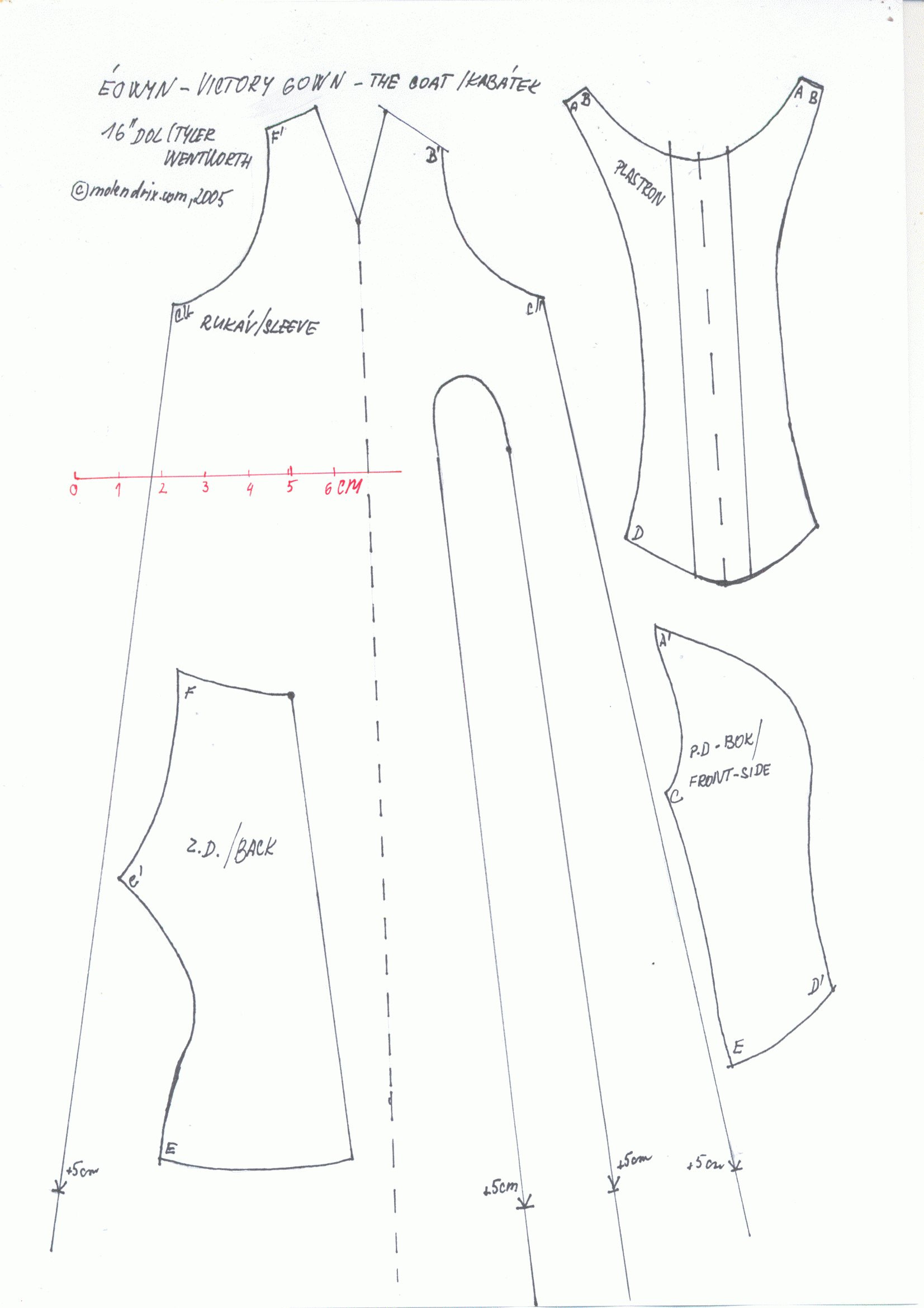 Free sewing patterns for fashion dolls