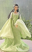 Arwen coronation dress ooak for Barbie doll