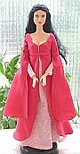 Arwen rose dress ooak for Barbie doll