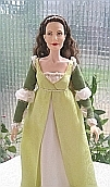 ever after danielle de barbarac  ooak doll  gold court gown