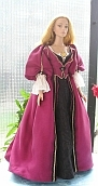 POTC Pirates of the Caribbean Elizabeth Swann plum ooak dress  for Tyler Wentworth