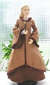 Eowyn ooak doll brown coat for Barbie