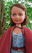 "Lucy pevensie from Chronicles of Narnia, Blue narnian costume for 8"" OOAK doll"