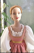 marguerite de ghent ooak costume for  Tyler Wentworth doll