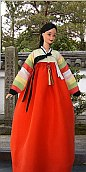 "han bok, Korean traditional dress for 12""  OOAK Barbie doll"