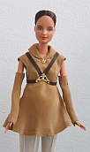 brown sleeveless outfit ooak for Barbie doll