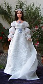 "Cinderella - wedding gown for 12"" Barbie"