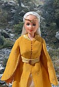 yellow elf dress for ooak Barbie doll
