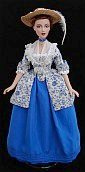 "18th century caraco dress for 15""Alex or Gene doll - ooak"